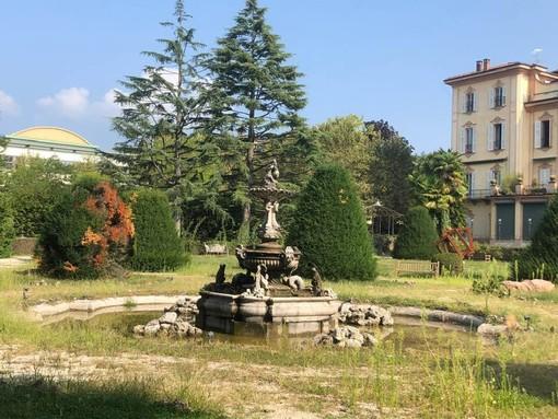 La foto dello stato in cui versa il Parco di Villa Recalcati inviataci da una lettrice lo scorso 7 settembre