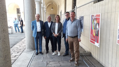 Da sinistra, Roberto Casnati, Orazio Tallarida, Laura Rogora, Michele Castelletti e Sergio Gianoli