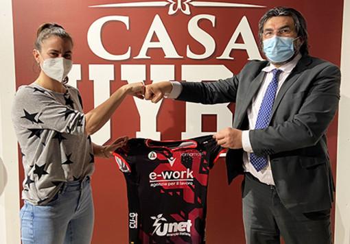 "Lucia Bosetti con il ""pres"" Giuseppe Pirola"