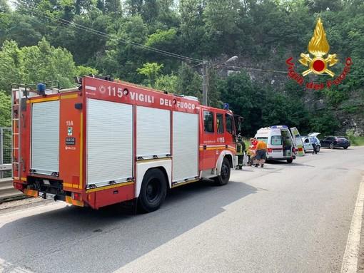 L'incidente di questa mattina a Besozzo