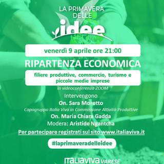 """""""La primavera delle idee a Varese"""". Dal 9 aprile la kermesse di appuntamenti organizzati da Italia Viva"""