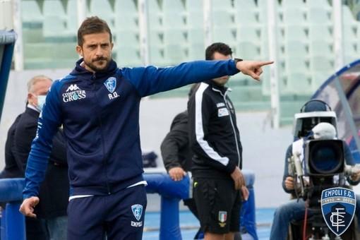 Mister Alessio Dionisi al lavoro con il suo Empoli: per continuare a stupire (si ringrazia l'ufficio stampa del club per le foto dai canali ufficiali Empoli FC)