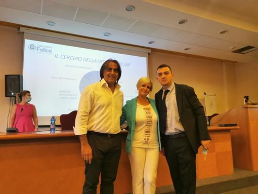 Antonio Mete e Andrea Leta in compagnia di Simona Bastari, relatrice d'eccezione questa mattina per il corso di aggiornamento organizzato da AIAC Varese