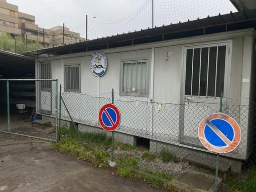 L'attuale sede della Canottieri Angera