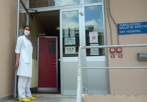 Barbara Pariani, coordinatrice infermieristica dell'unità operativa di Malattie infettive a Busto