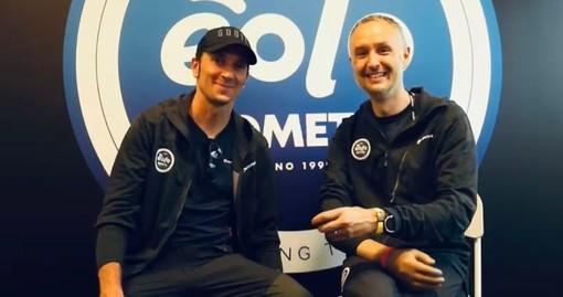 Ivan Basso e Francesco Caielli, condottiero e addetto stampa della Eolo-Kometa, questa sera sono tornati a casa dopo un Giro fantastico, il primo di una lunga serie