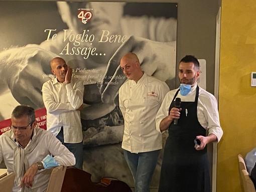 Antonello Cioffi con Giorgio Puleo, chef alla Piedigrotta di Varese