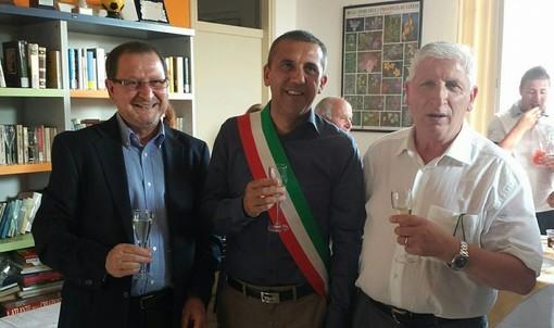 Egidio Calvi tra Luciano Puggioni e Salvatore Bracale