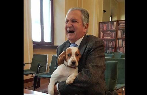 Cesare Cerana in una foto pubblicata su Facebook da Piero Sandroni