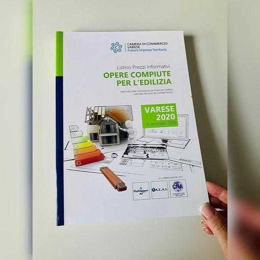 Edilizia a Varese: pubblicato il listino prezzi 2020 della Camera di Commercio