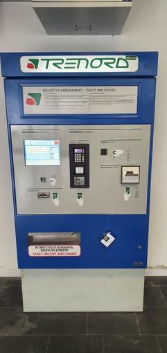 Alla stazione di Gaggiolo a Cantello installata un'emettitrice automatica di biglietti di viaggio