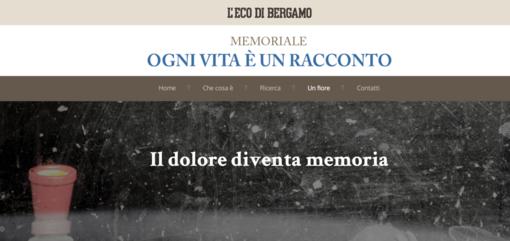 L'intestazione del memoriale dell'Eco di Bergamo