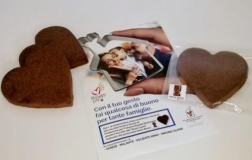 """Il """"biscotto del buon cuore"""" creato da Denis Buosi: lo troverete nei McDonald's di Varese, Malnate, Solbiate Arno e Induno Olona"""