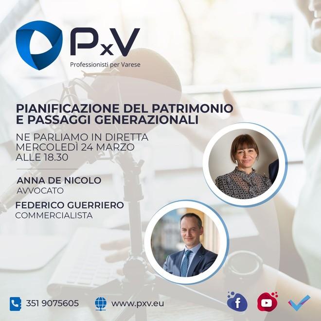 Pianificazione del patrimonio e passaggi generazionali: ne parleranno due esperti PxV