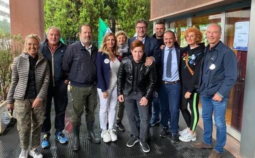 Il ministro Giorgetti a Castellanza. Incontro con Soragni e la sua squadra