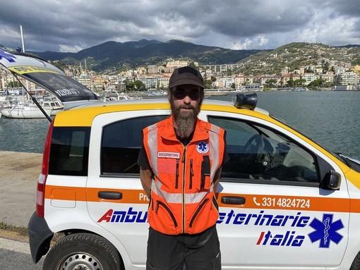 Gilles Giglio, volontario del servizio ambulanza veterinaria a Sanremo e in provincia di Imperia