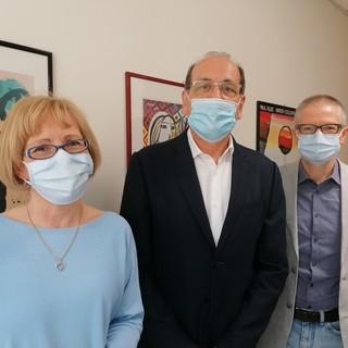 Il dottor Mauro Zaffaroni, al centro, con gli psicologi Lorena Pippolo e Marco Roscio