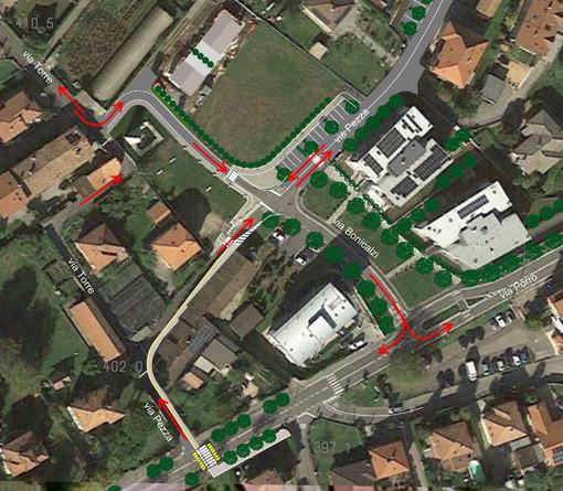 Apre domani al traffico, a Induno Olona, la nuova viabilità attorno alla torre della Pezza