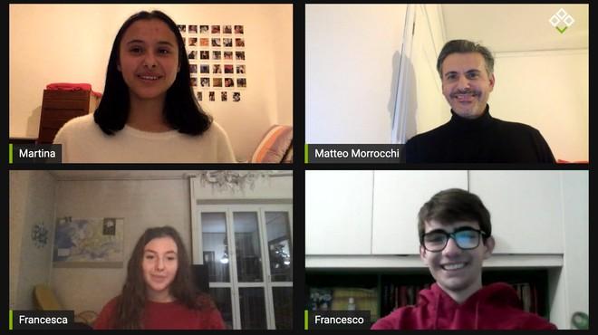 Francesca, Martina e Francesco sono i tre adolescenti che, guidati da Matteo Morrocchi, racconteranno il loro modo di vedere la casa durante il lockdown