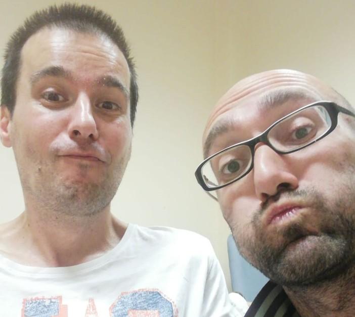 Andrea Arnaboldi (a destra) con l'amico Luca Dalla Bona (a sinistra)