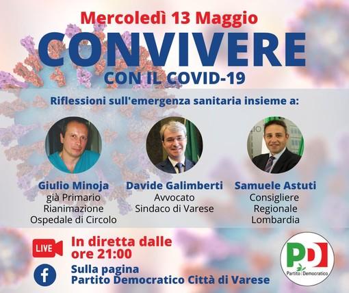 """""""Convivere con il Covid-19"""": l'incontro pubblico """"virtuale"""" organizzato dal Pd di Varese"""