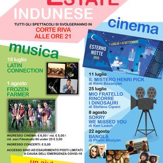 Cinema e musica: parte sabato con un ricco programma l'Estate Indunese