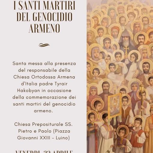 Luino, venerdì una messa in ricordo dei martiri del genocidio armeno