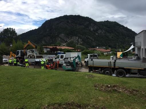 Lavena Ponte Tresa continua a combattere contro i danni dell'alluvione. Il sindaco: «Stiamo tornando faticosamente alla normalità»