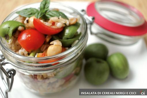 MercoledìVeg di Ortofruit: oggi prepariamo l'Insalata di Cereali, Nergi e Ceci