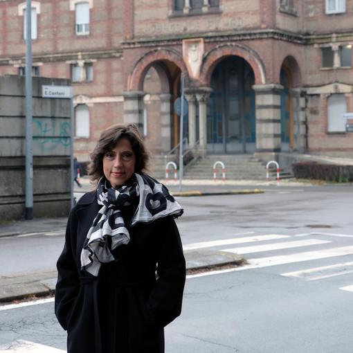 Margherita Silvestrini. Sotto: l'ospedale di Gallarate