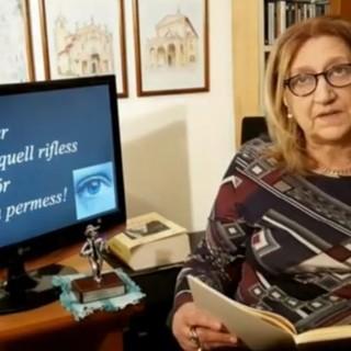 """Lidia Munaretti interpreta per la Famiglia Bosina """"Un gutin d'acqua saraa"""" di Paolo Rattazzi"""