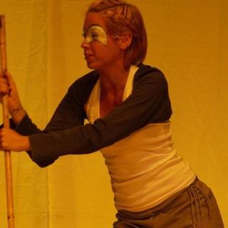 """Un'immagine di Martina Luoni durante uno spettacolo dell'annata scolastica 2011/12, quando frequentava la classe terza del Liceo """"Marco Pantani"""