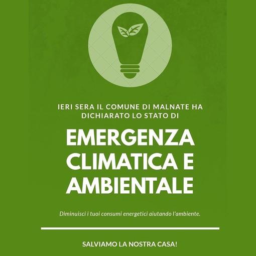 Malnate dichiara lo stato di emergenza climatica: «Combatteremo per la salvaguardia dell'ambiente»