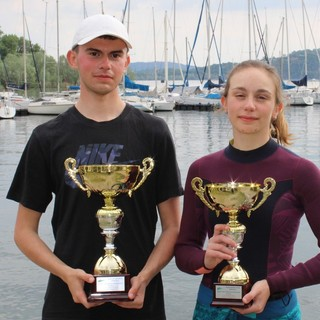 I vincitori Lorenzo Binda e Beatrice Macchi