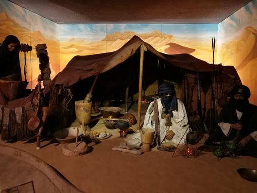 In una sala del Museo Castiglioni, è riprodotta un'autentica tenda Tuareg