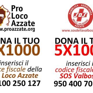 Appello congiunto di Pro Loco Azzate e Sos Valbossa per il 5 e 2X1000
