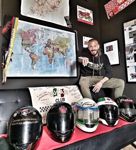 L'uomo dei record in sella a una Ducati, Paolo Pirozzi (foto dal sito ufficiale)