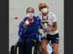 Uno scatto pieno d'orgoglio di Paola Grizzetti da Tokyo 2020. In basso, il ct è in compagnia delle tre figlie Valentina, Veronica e Vittoria