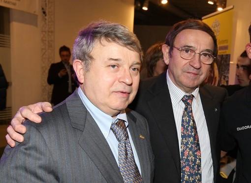Da sinistra Paolo Colnago con il fratello Ernesto