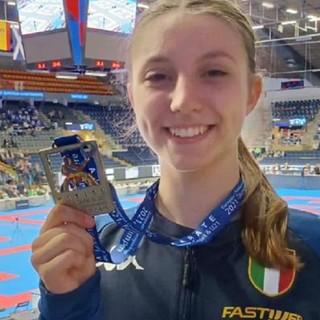 Roberta Dominici, argento agli europei giovanili di karate