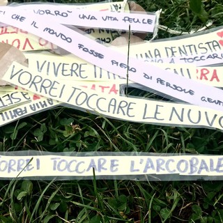 """""""Vorrei toccare l'arcobaleno"""": i sogni dei bambini di Solbiate Arno raccolti su un grande albero"""