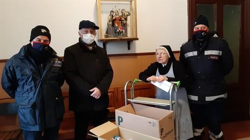 L'Anc di Somma Lombardo dona prodotti alimentari alle Suore della Riparazione di Varese