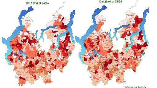 La mappa del Coronavirus nel Varesotto: Varese, Gallarate e Busto in calo, nel Lavenese l'incidenza più alta