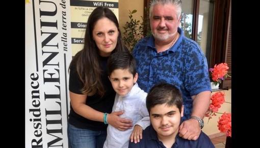 Marco e Miki Squizzato con i figli