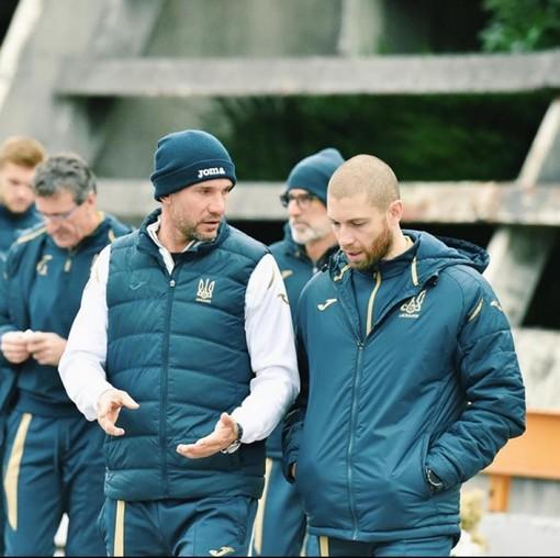 Andriy Shevchenko insieme al suo nuovo preparatore atletico: il professor Andrea Azzalin