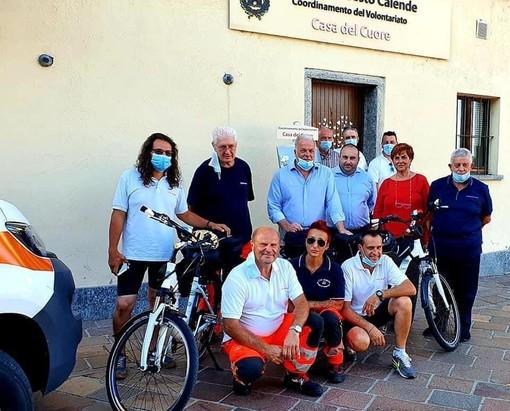 Due nuove bici per il Ciclo Soccorso a Sesto Calende attivo nelle vie della città e sul lungofiume