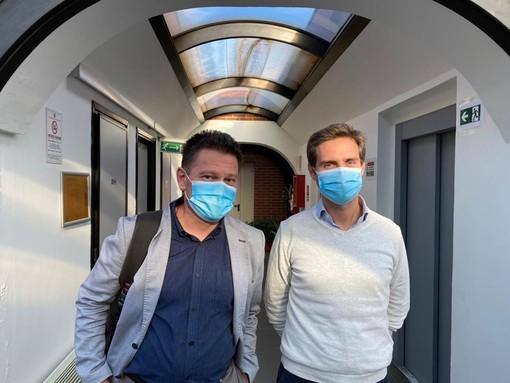 da sinistra Mauro Fasano e Lorenzo Azzi, Università dell'Insubria