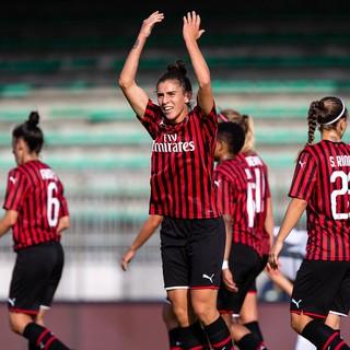 Valentina Bergamaschi non potrà più esultare insieme al suo Milan nella stagione 2019/20, che non si concluderà (foto archivio)