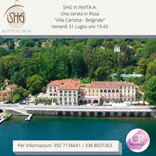 """Una """"Serata in Rosa"""" sulle sponde del Lago maggiore"""