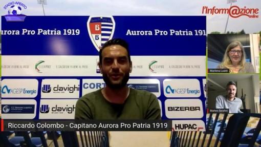 Ricky Colombo a Stadio Aperto con Marilena Lualdi e Matteo Serafini, sotto i tifosi intervenuti in video